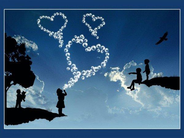 Vous êtes nés ensemble, et ensemble vous serez pour toujours de Khalil Gibran  dans Amour (119) enfantbulles