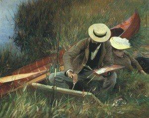 Ce qui fait durer l'amour ... dans Amour (119) 755px-Sargent_-_Paul_Helleu_Sketching_with_his_Wife-300x238
