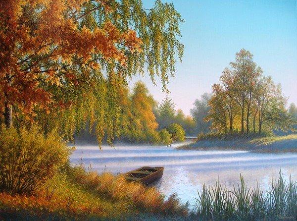 paysage-de-vladimir-chikanov. dans La forêt