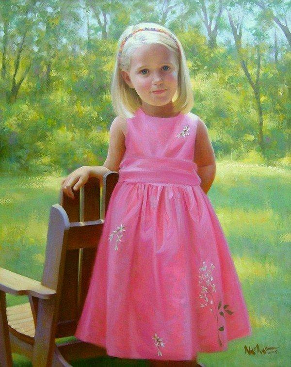 Superbes portraits d'enfants du peintre Brian Neher, artiste americain  dans Art et Peintures (64) 3a910e31