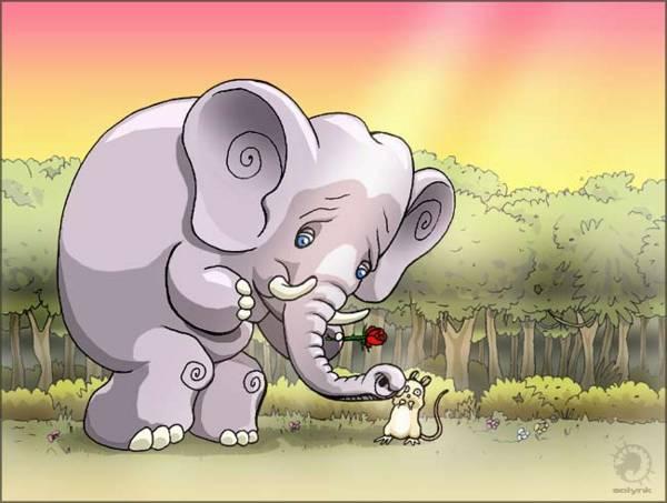 La-souris et l'éléphant