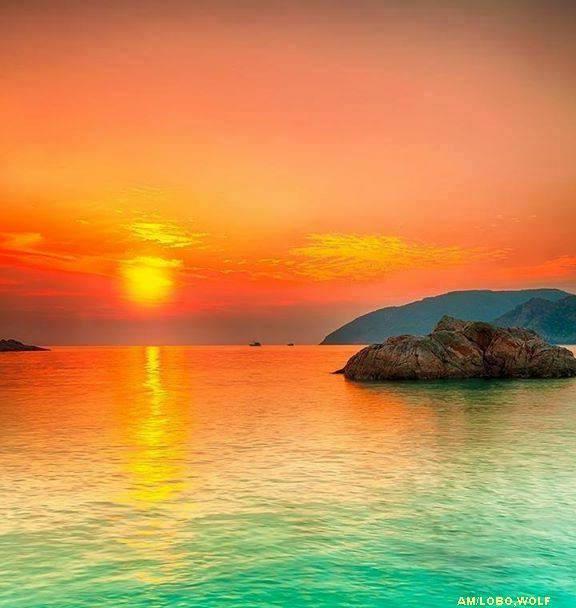 suberbe coucher de soleil