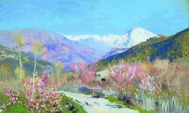 Jardins fleuris Isaac Levitan